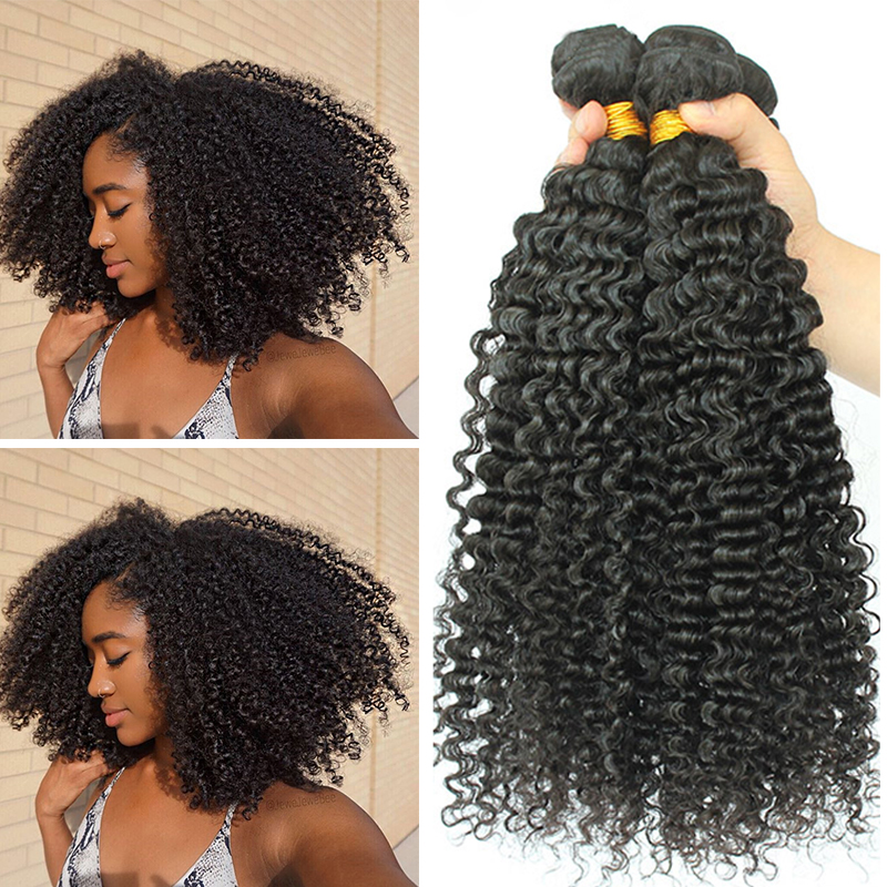 Brazilian Afro Kinky Curly Hair Weave 100% Natural Remy Human Hair Bundles Extension 3B 3C Dolago Hair Products