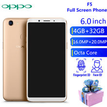 Global Version OPPO F5 4GB 34GB Mobile Phone 20.00MP Camera MTK 6763T Helio P23 Octa Core Smartphone 3200mAh NFC(China)