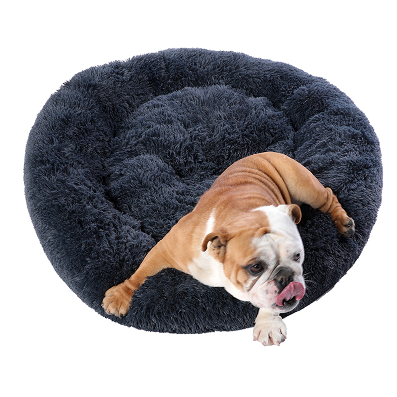 Super Large Dog Bed Round Washable Pets Bed Winter Warm Sleeping Plush Dog Kennel Cat Mats Puppy Cushion Mat Dog Cat Supplies 4
