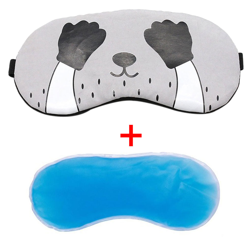 Office Gifts Sleeping Aid Ice Gel Eye Mask Shade Cartoon Home Comfort Cover Eyepatch School Travel Cold Relaxing Blindfolds