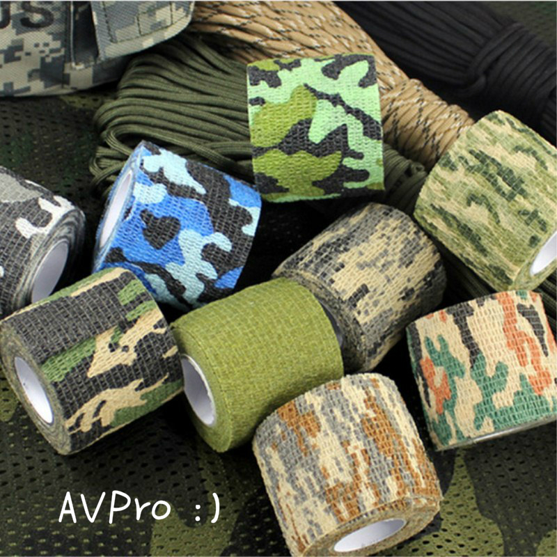 5 X 4.5CM Camouflage Camo Elastoplast Adhesive Bandage Wrap Stretch Self Adherent Tape Wrist Ankle Slices Tattoo Grip Accessory
