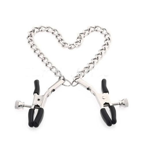 Chained Nipple Clamps Precision Tease Tweezers Metal Adult Game Sex Toys For Woman Suitable For Adult Couples Lovers