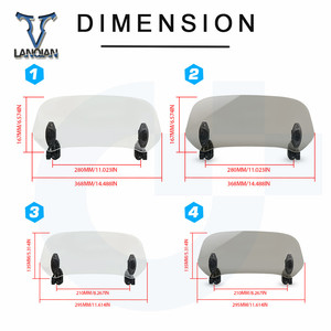 Image 5 - Motorcycle Windshield Adjustable Windscreen Deflecto Universal for Suzuki Bandit1200S LE Bandit 1200S ABS SUZUKI GSX1200 INAZUMA