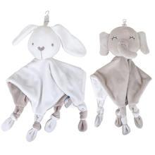 Мягкое успокаивающее детское полотенце с кольцом мультяшное