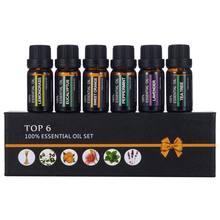 6 шт/компл натуральный массаж тела набор эфирных масел ароматерапия