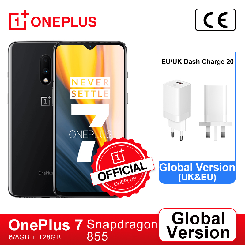 Глобальная версия Oneplus 7 6 ГБ 128 Snapdragon 855 восьмиядерный смартфон 6,41