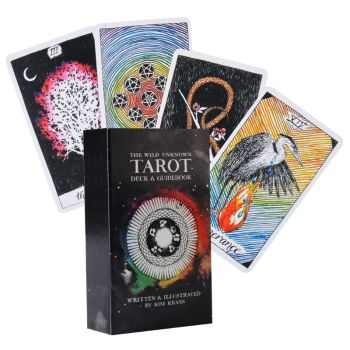 The Wild Unknown Tarot 78 Cards Deck Full English Tarot Family Party Board Game 24BD the rider tarot deck board game 78 2 pcs set new design cards game english edition tarot board game for family friends
