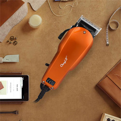 Professional Men elektryczna maszynka do strzyżenia włosów potężna moc nóż ze stali nierdzewnej strzyżenie maszyna do cięcia dla dziecka 4 Limit Combs Styler|Trymery do włosów|AGD -