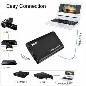 Image 3 - 4 18k 1080 1080p hdmiループアウト電話ゲームキャプチャカードusb 3.0マイクビデオ録画ボックスPS4 hdカメラスイッチpcライブストリーミングプレート