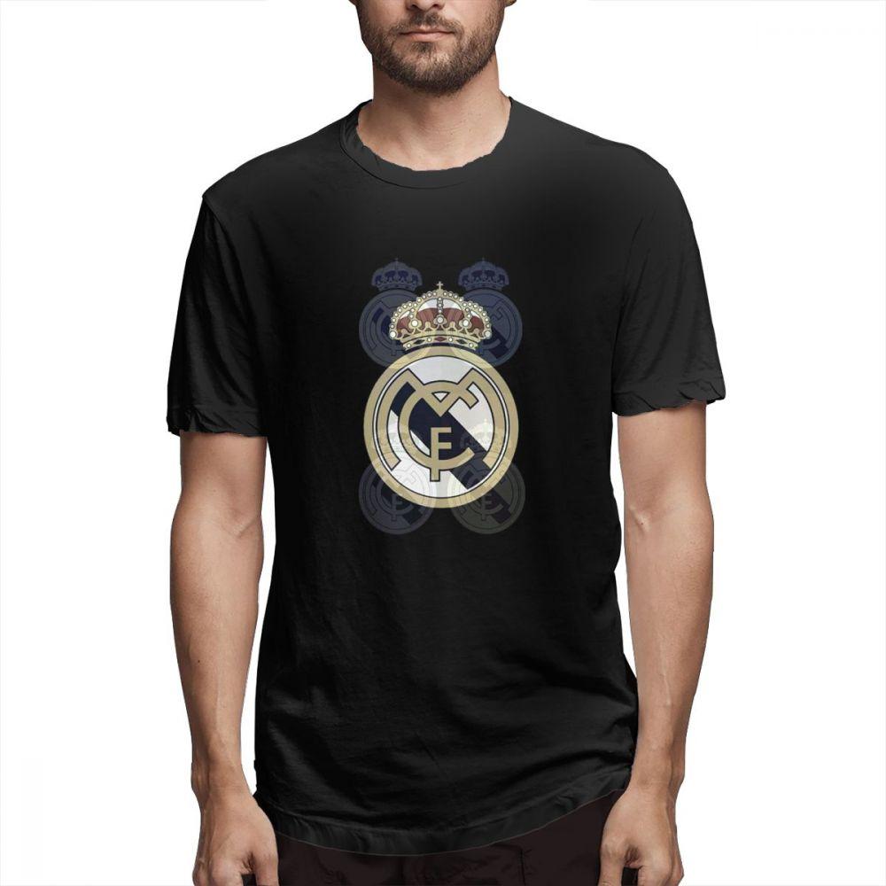 Real Madrid Casual O-Neck Men's Short Sleeve T-shirt 100% Cotton Tee Shirt Printed Men Clothes 2019