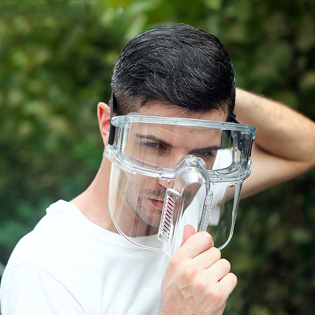 Detachable Dust-Proof Full Face Cover Mouth Mask Transparent Protection Mask Splash-Proof Anti-saliva Face Cover Visor Shield 1