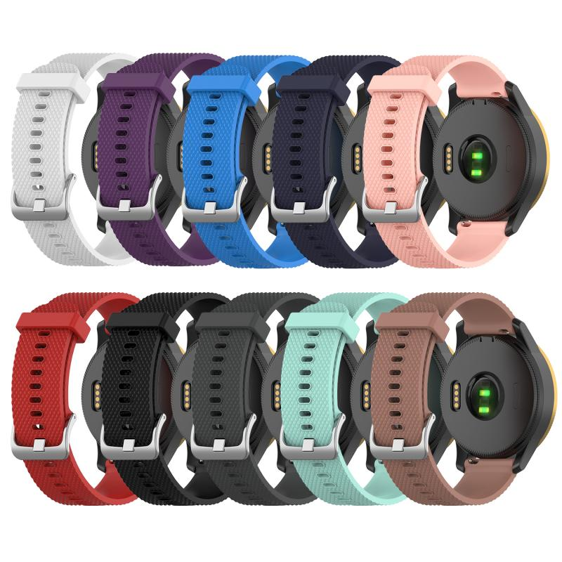 High watch Accessories For <font><b>Garmin</b></font> venu Smartwatch <font><b>20mm</b></font> Strap waterproof Soft silicone Sport colorful Bracelet <font><b>Band</b></font> small model image