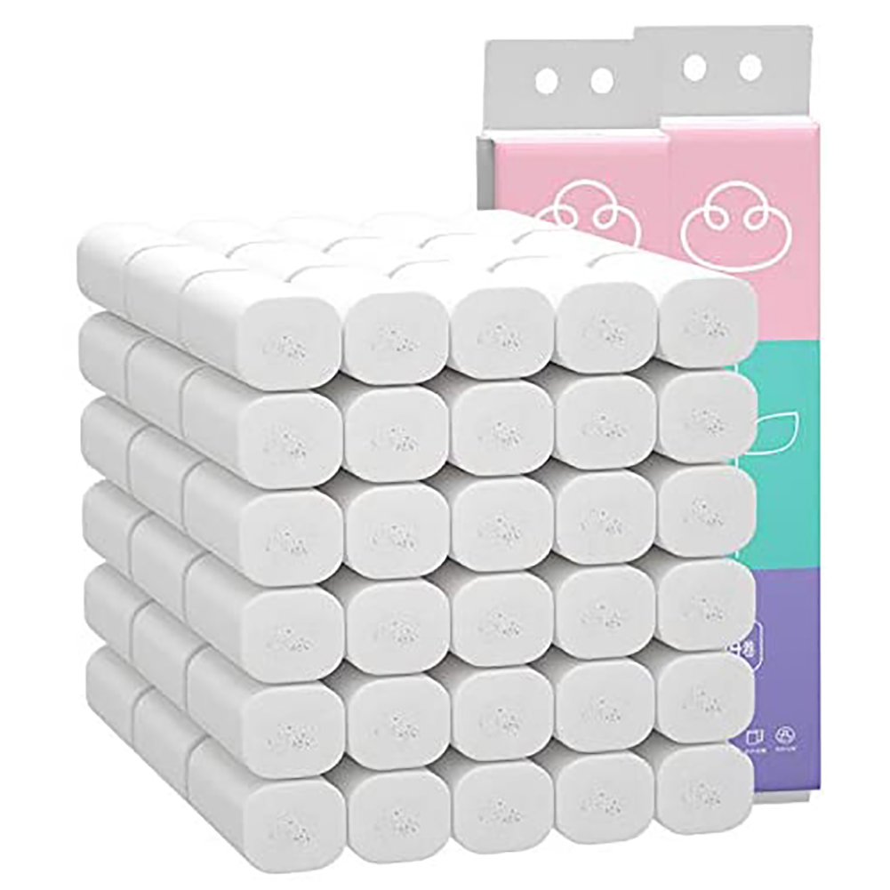Multipurpose 14 Rolls 4 Layers Natural Bamboo Pulp Roll Paper Toilet Paper Towels Household Kitchen Suply