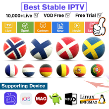 World IPTV Netherland Sweden Albania Subscription 4k for Android Enigma2 Mag Smart IPTV M3u Spain Belgium 1 Year Free Test Code цена 2017
