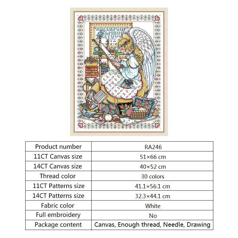 Chinese Cross Stitch Kits Embroidery DMC DIY 14CT Counted Printed Canvas Painting Angel Embroider Patterns Needlework Art Crafts (3)