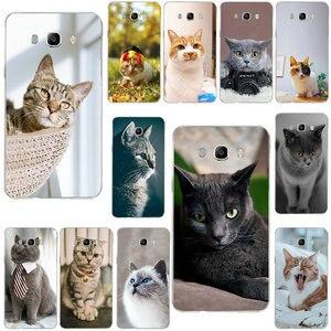 Милые животные кошка зеленые глаза для samsung Galaxy J1 Mini J2 J3 J4 J5 J6 J7 J8 2016 2017 2018 Prime Мягкие силиконовые чехлы для телефонов