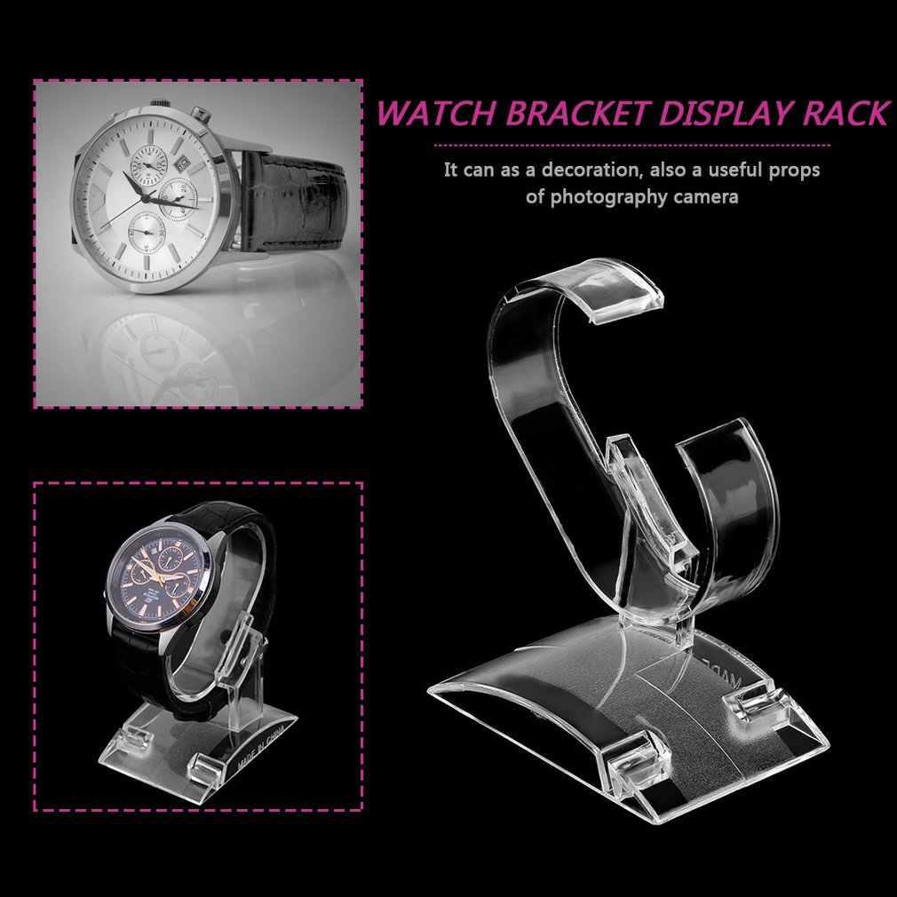 Claro acrílico reloj pantalla soporte Rack mostrar herramienta transparente reloj ligero soporte Winder