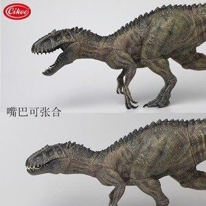 Image 4 - الكلاسيكية محاكاة الديناصورات اللعب إندومينوس ريكس نموذج الجوراسي الحيوان ديناصور بك عمل الشكل لعبة الهدايا