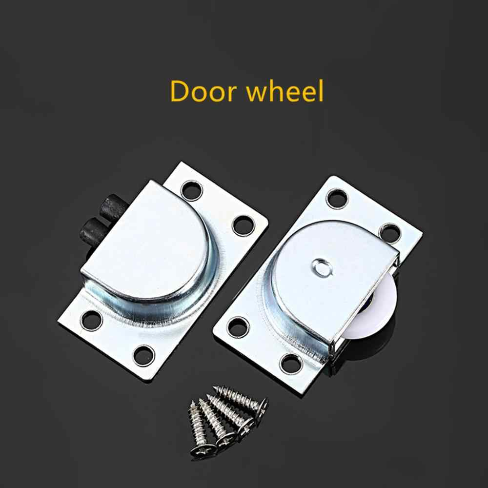 Stainless Steel Sliding Door Wheels Rollers Runner Cupboard Wardrobe Tool Kit UK