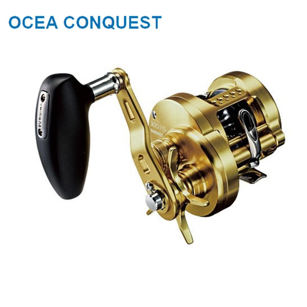 100 original shimano ocea conquista roda de pesca 300pg 301pg isca molinete molinete 10 1bb engrenagem