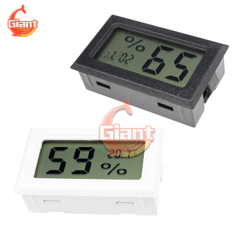 Digital LCD Thermometer Hygrometer with Probe Temperature Humidity Home Gauge