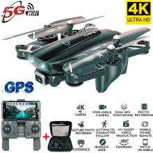 RC Helicopters Folding quadcopter 4k HD camera GPS 5G WiFi FPV 1080P no signal return flight 20 minutes drone with toy