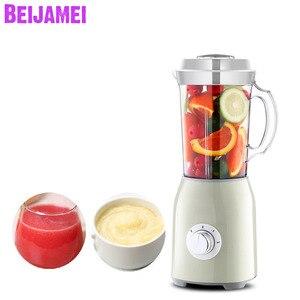 BEIJAMEI бытовая электрическая соковыжималка, блендер, миксер, маленький молочный Шейк, фруктовый сок, детская дополнительная еда, Кухонная маш...