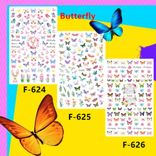 Newest F-624-625-626 Spring Butterfly 3d nail art sticker nail decal stamping export japan designs rhinestones  decorations