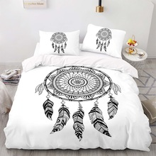 Duvet-Cover-Set Size-Bedding King with Pillowcase 203229 Catcher-Pattern Dream Bohemian-Style