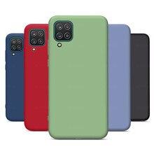For Samsung A12 Case Liquid Silicone Case For Samsung Galaxy A52 A72 A32 5G 4G A21S A