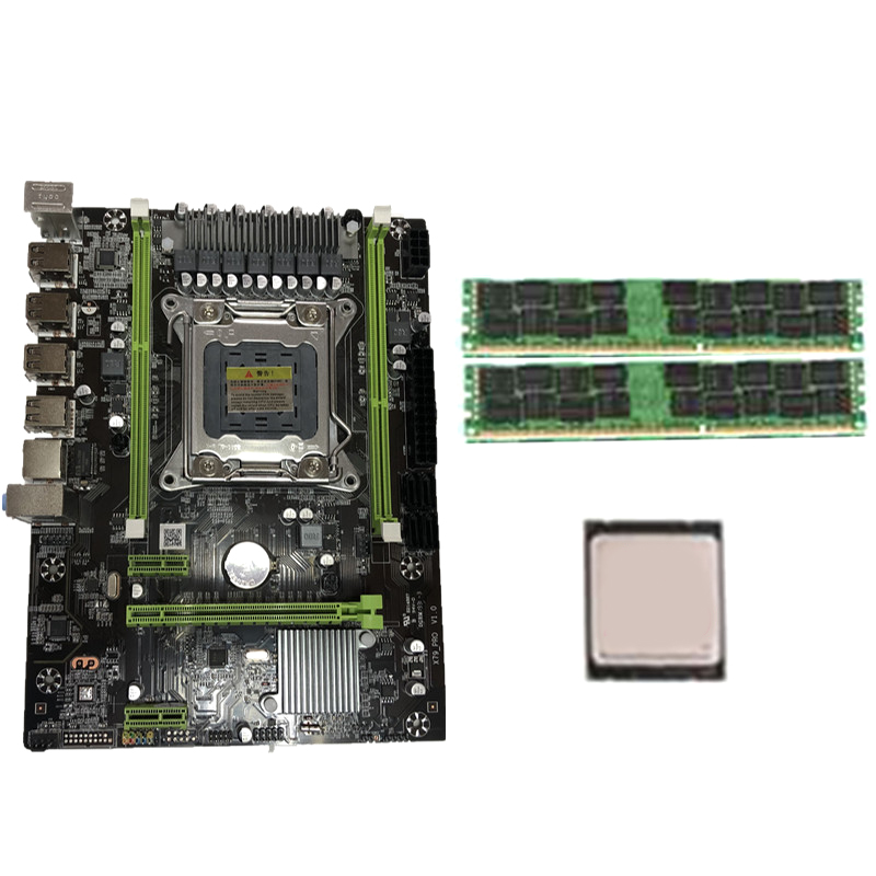 X79 Motherboard Set With LGA2011 Combos Xeon E5 2620 CPU 2Pcs X 4GB = 8GB Memory DDR3 RAM 1333Mhz PC3 10600R PCI-E