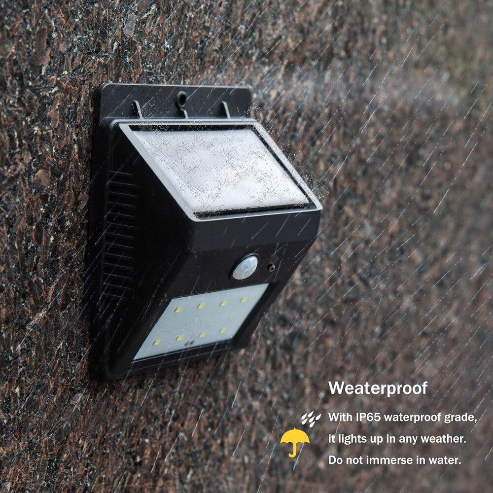 LEVOU ao ar livre lâmpada de parede sensor de sensores de luz de rua solar do jardim à prova d' água automaticamente motion via pública lâmpadas Noite Mylamp