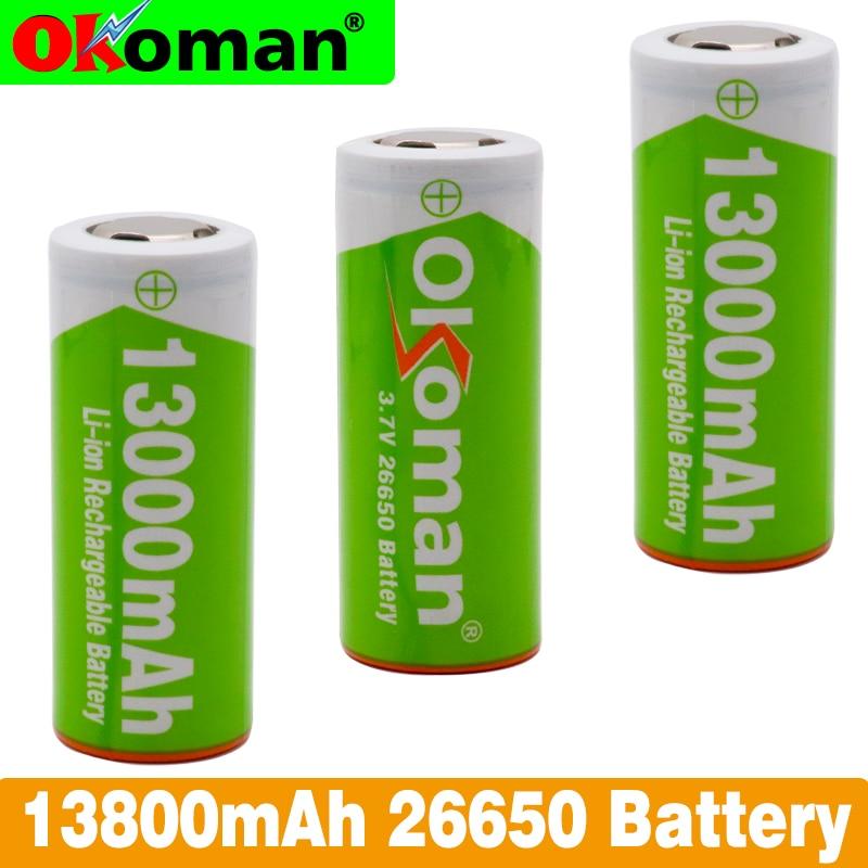 2020 новый оригинальный 26650 литиевый аккумулятор 3,7 в 13800 мАч Высокая емкость 26650 перезаряжаемая батарея подходит для фонарика