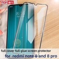 Protetor de tela para xiaomi redmi nota 8 pro vidro temperado redmi nota 8 película protetora vidro 9 h 2.5d mofi capa completa premium|Protetores de tela de telefone|Telefonia e Comunicação -