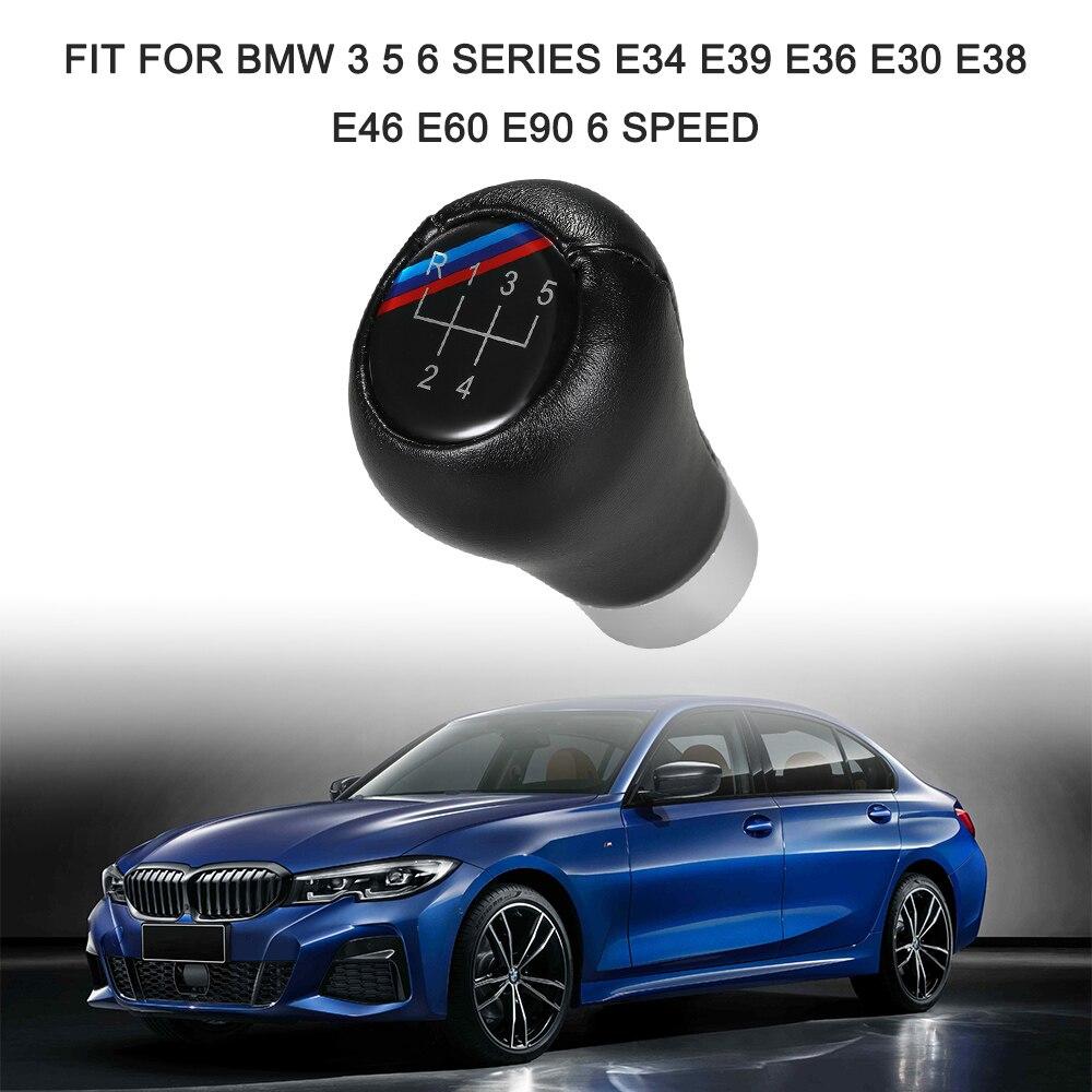 US STOCK SILVER BLACK Manual 5 Speed Gear Knob for BMW 1 3 5 Series E46 E36 E30