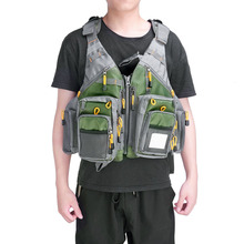Breathable Fly Fishing Vest Multi-Function Adjustable Mesh Multi-Pocket Jackets Fisherman Fishing Gear Equipment