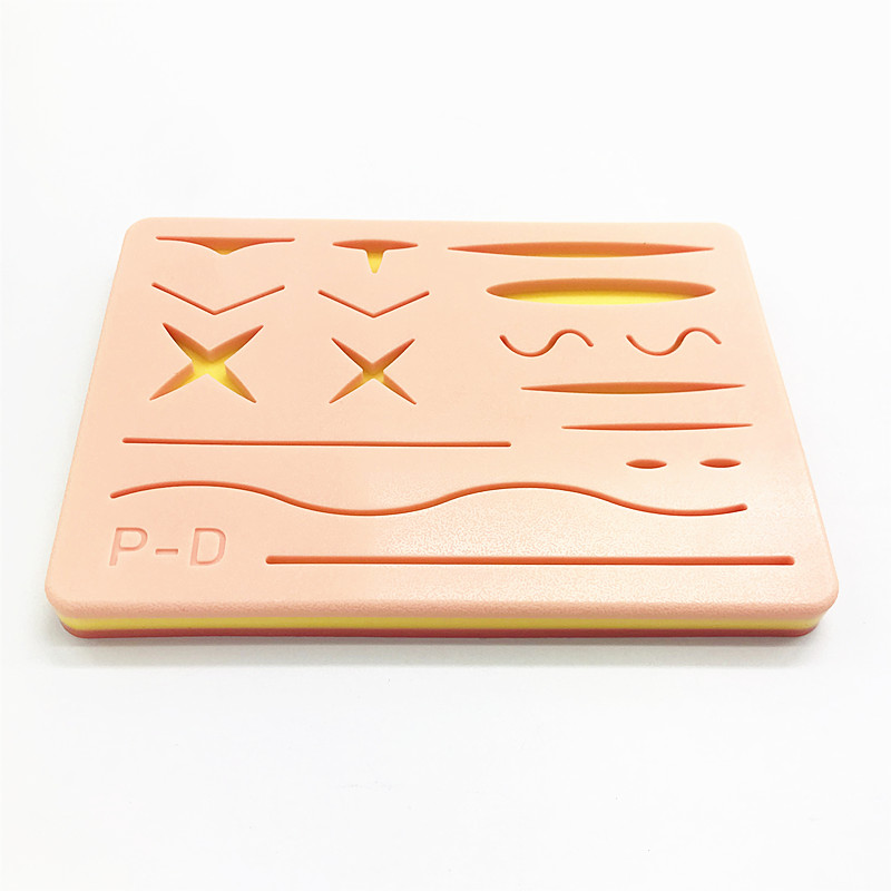 Human Traumatic Skin Model Suturing Training Pad Suture Training Kit For Doctor Nurse Student Practice Tool