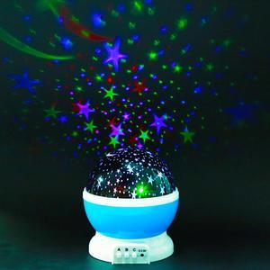 Image 3 - LED Star Projector Moon Night Light Sky Rotating Lamp Projection LED Lights for Kids Bedroom Decoration Children Gift