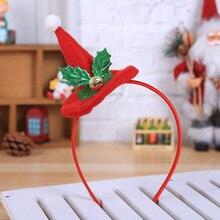 Новогодняя повязка на голову с рождественскими рогами, шапка Санты, повязка на голову, праздничный головной убор, обруч для волос для женщин, украшение на Рождество@ 40