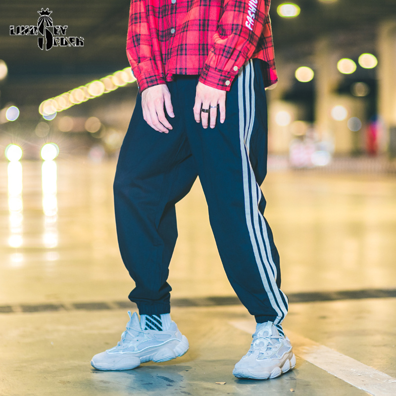 Lindsey Seader Solid Color Sweatpants Sports Pants Side Stripes Print Thin Joggers Pants Mens Hiphop Casual Streetwear Trousers