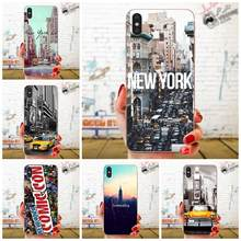 New York City Times Square Taxi Luxury For Samsung Galaxy Note 5 8 9 S3 S4 S5 S6 S7 S8 S9 S10 5G mini Edge Plus Lite(China)