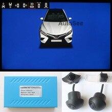 Для Toyota Camry, Corolla 360 градусов, птичий глаз, круглая камера DVR 1080P, с линией траектории парковки