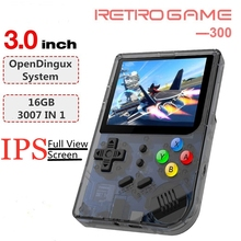 цена на Portable Retro Game Player 3.0 inch IPS Screen Handheld Games Console Built in 3000 Classic GAMES Video Gaming Console PS1 FBA