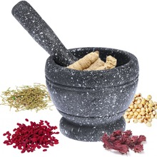Creative Garlic Masher Jar Bowl Mashing Medicine Household Multifunctional Wood Mortar & Pestle Kitchen Gadget