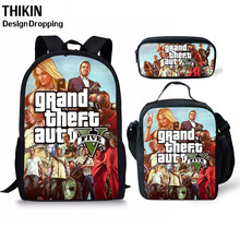 THIKIN Grand Theft Auto School Bags GTA 5 Student Backpack for Grils Boys Teenagers  Cartoon Book Bag The Best Gift
