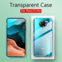 Ultra Dünne Silikon Soft Clear Fall Für Xiaomi POCO X3 NFC Abdeckung Transparent Stoßfest Fall Für Pocophone POCO F2 Pro zurück Capa