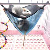 Double-layer Pet Hamster Hanging House Hammock Breathable Mesh Small Pet Cage Sleeping Pet Bed Rat Cage Toy Accessories