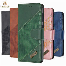Splicing Leather Case For Samsung A10 A20E A30 A21 A50 A51 A70 A81 A91 S9 Plus S10 S20 Ultra Wallet Flip Card Holder Stand Cover