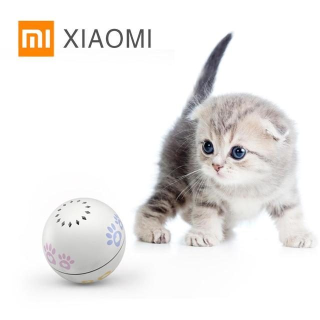 شاومي بيتونير الذكية القط لعبة الكرة منتجات الحيوانات الأليفة هريرة لعبة كرات النعناع البري التلقائي نقطة حمراء مضحك القط اللعب USB شحن