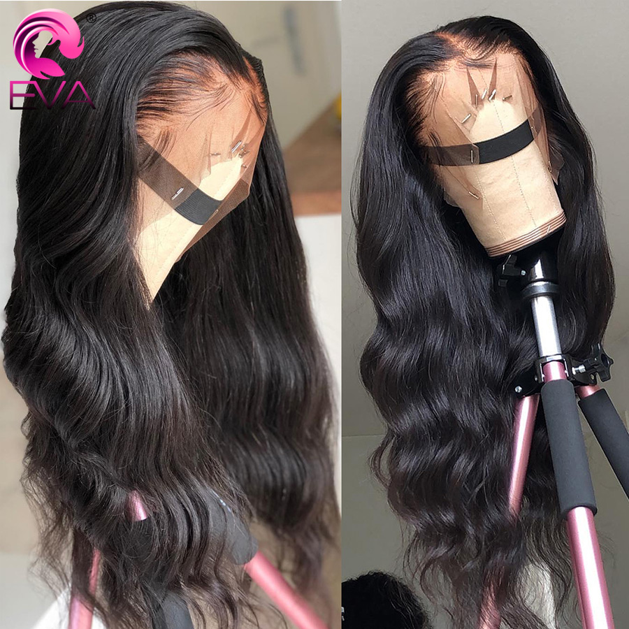 Eva Hair 180% Density 360 Lace Frontal Wig Pre Plucked With Baby Hair Brazilian Remy Curly Human Hair Lace Wigs For Black Women